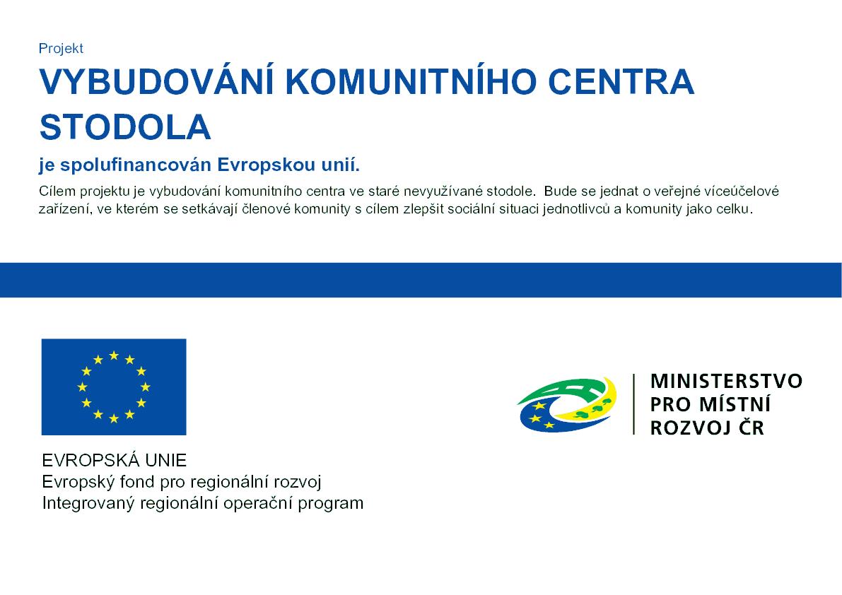 Projekt komunitního centra STODOLA